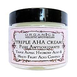 AHA Face Cream ORGANIC Natural Triple Al...