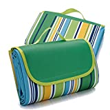 """Outmall Beach Blanket, Portable Foldable Waterproof Sandproof Mat Outdoor Travel Camping Picnic Blanket Tote for BBQ Hiking Backyard Grass Sports and Games - 79"""" L x 57"""" W Size"""