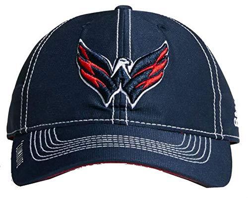 adidas NHL Hockey Washington Capitals Cap Hat Slouch Dobby ADJ Climalite CY1142 Navy (Nhl Hockey Cap Hat)