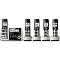 Panasonic KX-TGF375S Link2Cell Bluetooth Cordless Phone and Answering Machine with 5 Handsets (Certified Refurbished )