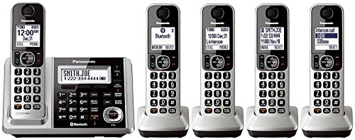 Panasonic KX-TGF375S Link2Cell Bluetooth Cordless Phone and Answering Machine with 5 Handsets (Renewed )