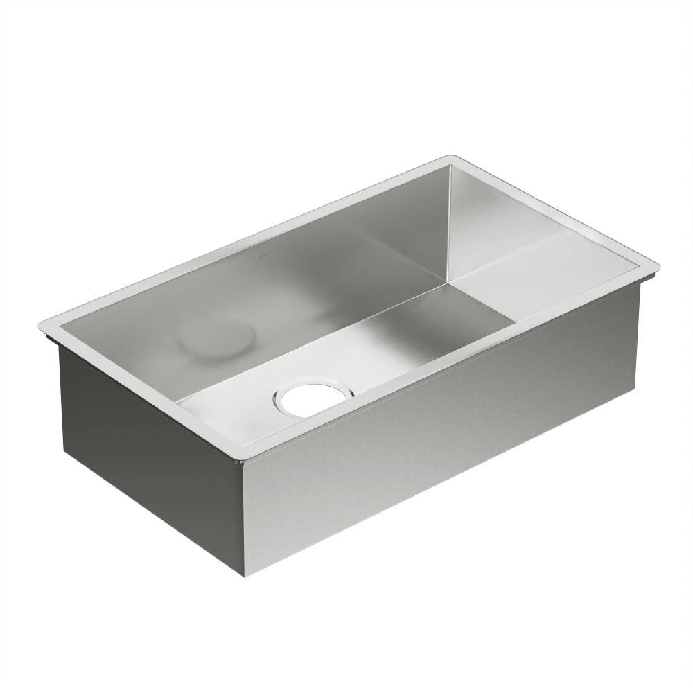 Moen G18180 1800 Series 18 Gauge Single Bowl Undermount Sink, Stainless  Steel     Amazon.com