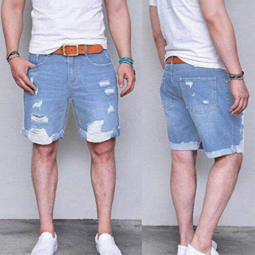 Denim Sweat Abbigliamento Uomo Slim Pantaloncini Lannister Stretch Jeans Destroyed Fit Look Festivo Da Joggers Blau Summer Used Leisure WwcfpAqXp