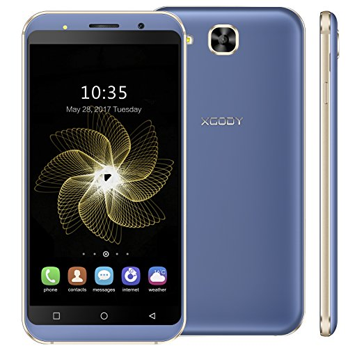 Xgody 5.3 Inch Cellphones Unlocked for T-Mobile/AT&T 3G/2G Network Android 5.1 8GB Celulares desbloqueados Dual Camera Support Bluetooth/Wifi Unlocked GSM Smartphone
