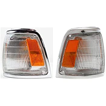 DAT AUTO PARTS Parking Light Assembly Replacement for 92-95 Toyota Pickup 4WD Chrome Trim Corner of Fender Right Passenger Side TO2521131