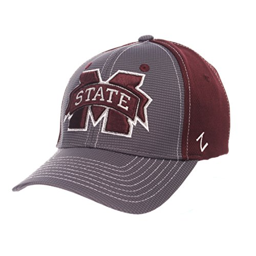 (Zephyr NCAA Mississippi State Bulldogs Children Boys Grid Cap, Youth, Gray/Team Color)