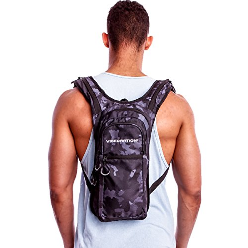 Festival Hydration Pack by Vibedration | 2L Water Capacity | Perfect for Raves, Hiking & Camping