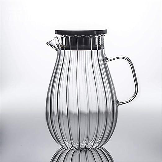 Knoijijuo 2,0 l/garrafa litros, Jarra de Cristal Botella de Agua ...