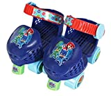 PlayWheels PJ Masks Roller Skates with Knee Pads, Junior Size 6-12