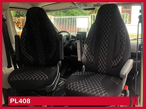 Maß Sitzbezüge Kompatibel Mit Fiat Ducato Typ 250 Bj Ab 2006 Fahrer Beifahrer Fb Pl408 Schwarz Baby