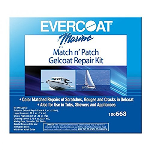 Evercoat 100668 Match N'Patch Repair Kit - 4 oz. - Fiberglass Evercoat Gel