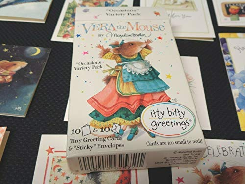 Itty Bitty Box - NEW Vera the Mouse Itty Bitty Greeting Cards in Box, Marjolein Bastin