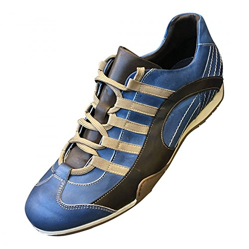 Sneakers Grandprix Originali In Pelle Laguna Seca Uk 9 / Eu 43 Blu