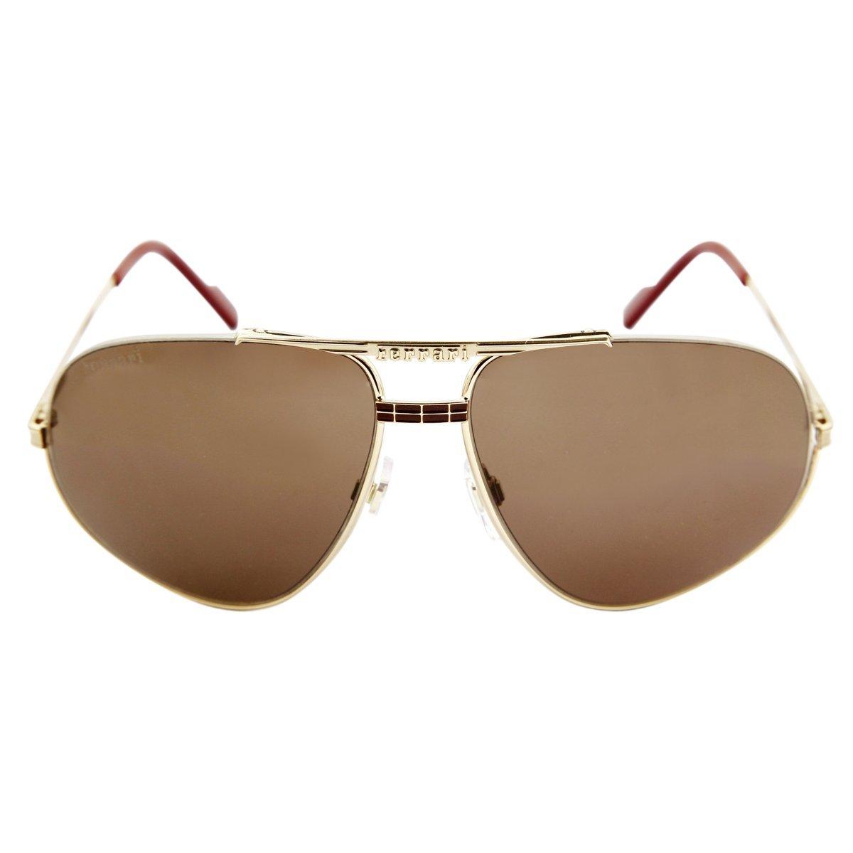 Ferrari - Gafas de sol - para hombre dorado dorado: Amazon ...