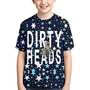 John J Littlejohn The Dirty Heads Boy'S T-Shirts 3D Printed T-Shirt for Toddlers Kid'S Short-Sleeve Casual Tee