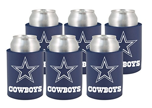 Kolder Dallas Cowboys Cooler - NFL Dallas Cowboys Phoozie Set, 6-Pack, Dark Blue/Gray