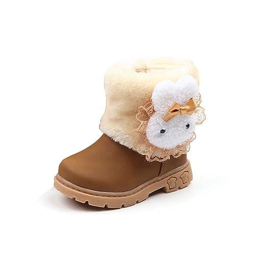 Stivale Bambina Caldo in Cotone con Stivali da Neve in Pizzo Stivaletti  Invernali per Bambini  Amazon.it  Scarpe e borse 3ee0d18784c