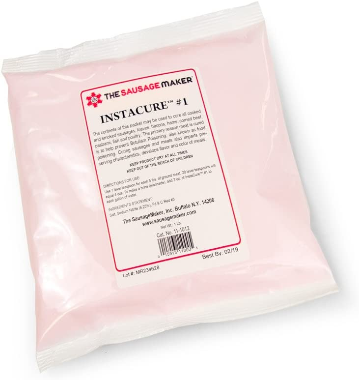 The Sausage Maker - Insta Cure (Prague Powder) #1, 1 lb. Curing Salt for Curing Meats