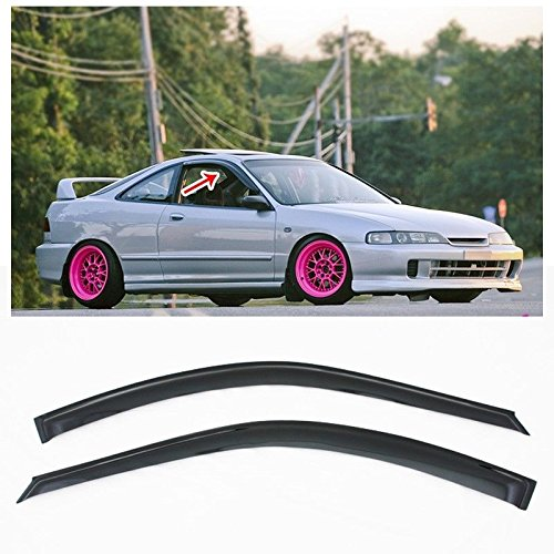 - Extreme Online Store for 94-01 Acura Integra DC2 3Dr Hatchback Smoke Tinted JDM Style Tape On Side Window Visors Rain Guard Deflector Vents