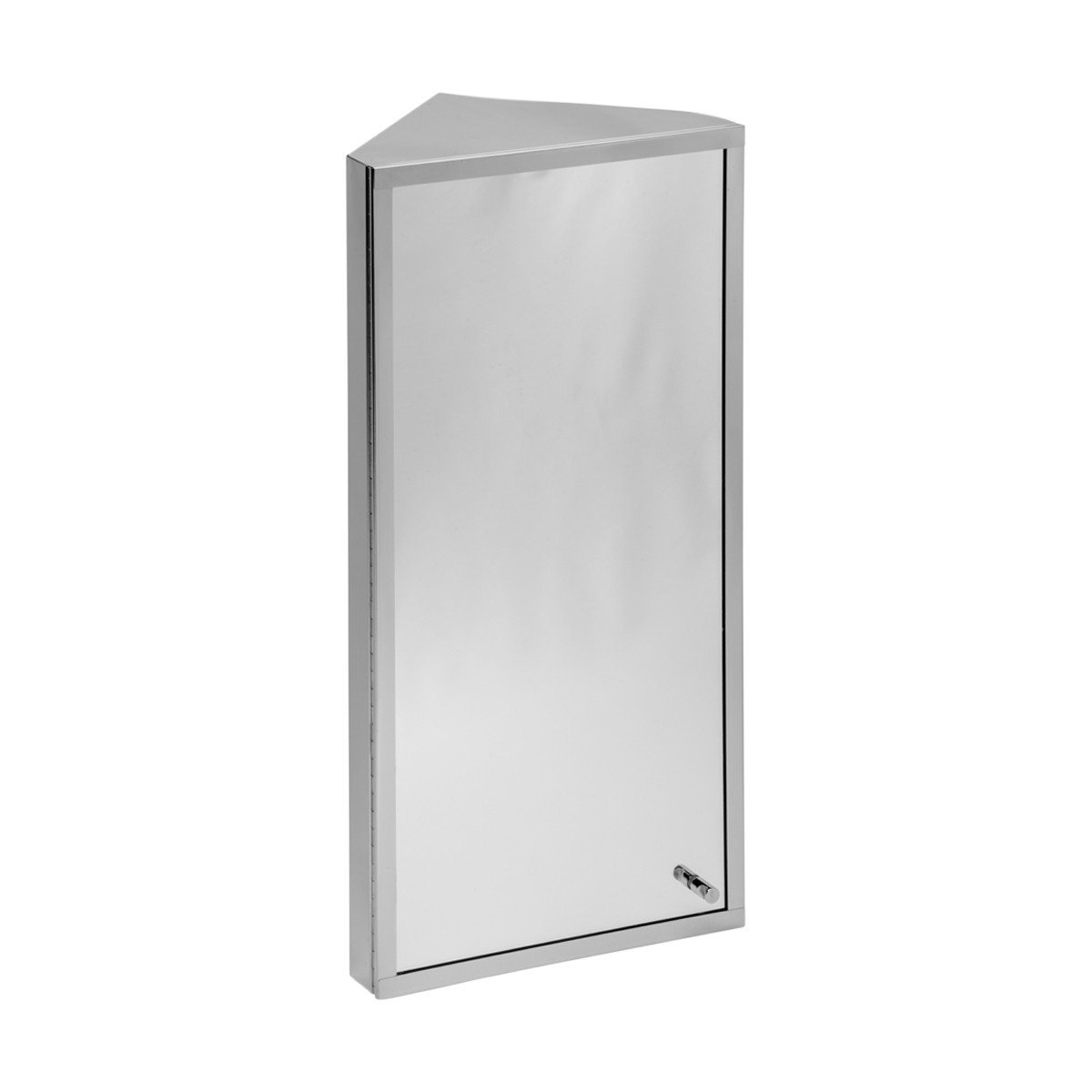 Amazon.com: Corner Medicine Cabinet Polished Stainless Steel Mirror ...