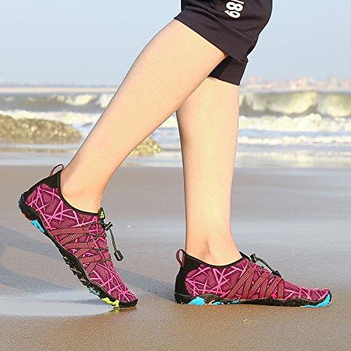 de Chaussures Plong Homme Aquatique de Femme Autobloquants d'eau avec Chaussons pour Piscine Sport Aquatique Surf pour Plage et Plage Lacets XH1wX