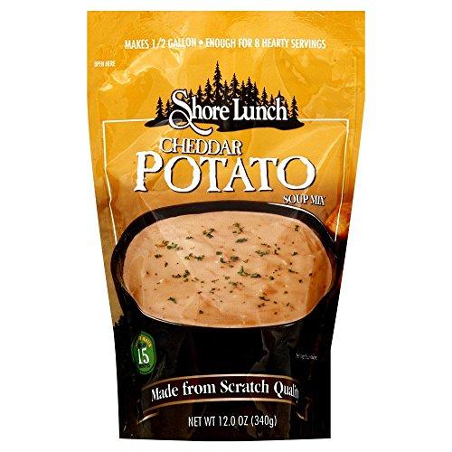 Shore Lunch Cheddar Potato Soup Mix 12 oz (Pack of 6)