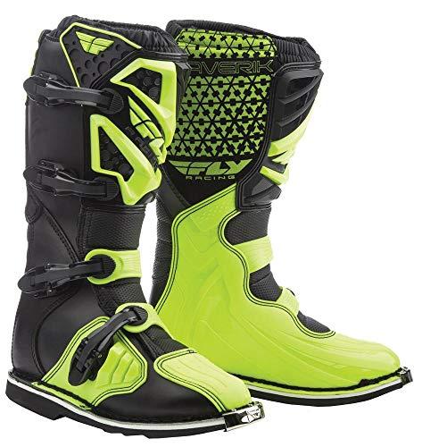 Fly Racing Unisex-Adult Maverick Mix Boots (Hi-Vis, Size 11) (Dirt Bike Boots Youth)