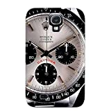 LJF phone case Hard Plastic Galaxy S4 Case Back Cover, Hot Rolex Watch Time Clock (23) Case For Christmas's Perfect Gift