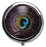 Best Silver Pills - BeeGogo - Peacock Feather Custom Round Silver Pill Review