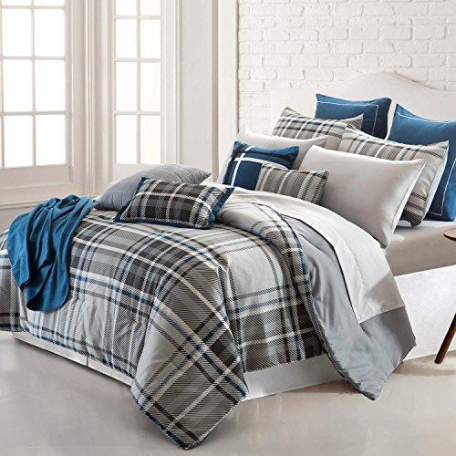 Amrapur Overseas   George Plaid 16 Piece Printed Reversible Comforter Set (Queen) ()