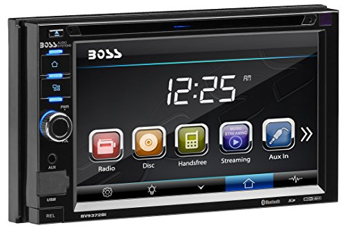 BOSS Audio BV9372BI Double Din, Touchscreen, Bluetooth, DVD/CD/MP3/USB/SD AM/FM Car Stereo, 6.2 Inch Digital LCD Monitor, Detachable Front Panel, Wireless - Face Car Stereo
