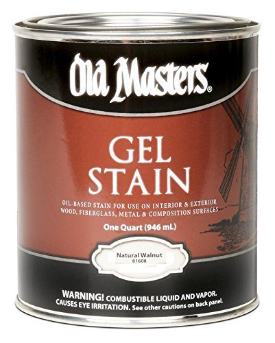 Old Masters 182303 81604 Gel Stain Natural Walnut Oil-Based