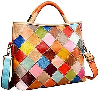 Heshe Womens Multi-color Shoulder Bag Hobo Tote Handbag Cross Body Purse (Colorful-2B4029)