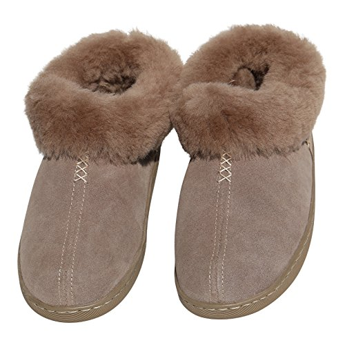 Chaussures Laine Femmes Mouton En Mérinos Peau Esquimo Cuir Fourrure Chaussons Avec 100 Marron De Véritable qRwHr40wWX