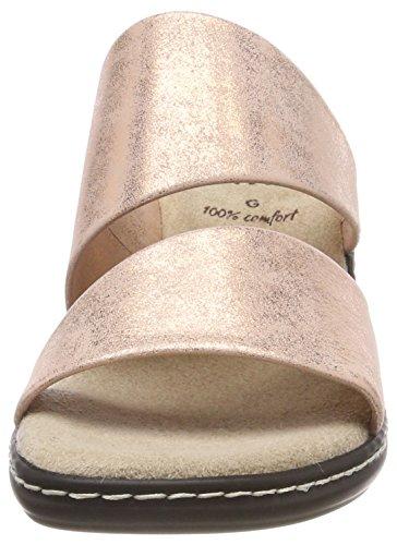 Jana 27215 Damen Pantoletten pink (rose metallic)