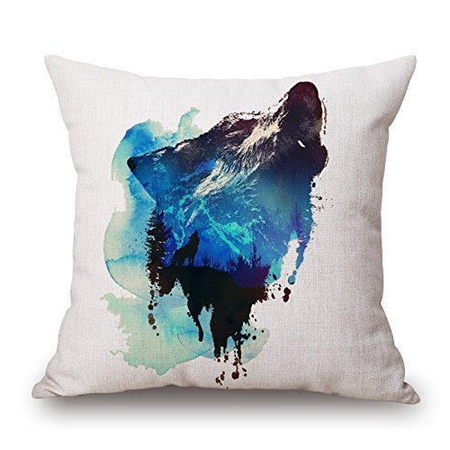 Bestseason Animal Pillow Covers 20 X 20 Inches / 50 By 50 Cm Best Choice For Adults,relatives,dinning Room,car,family,seat With 2 Sides -