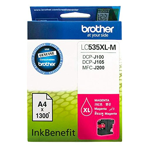 Brother LC535 X L-M MAGENTA CARTUCHO DE TINTA 1pieza: Amazon.es ...