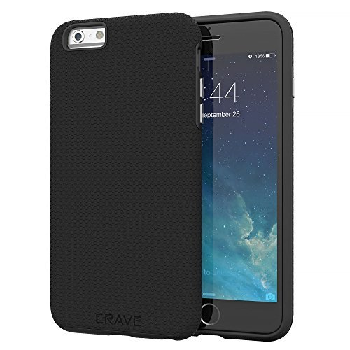 Crave iPhone 6S Plus Case, Dual Guard Protection Series Case for iPhone 6 6s (5.5 Inch) - Black