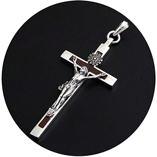 190eda973202 Epinki Plata de Ley 925 Collar de Hombre Jesus Cruzar Forma Colgante Cadena  Hombre Cadenas Amistad