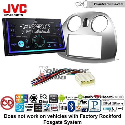 ボランティアオーディオJVC kw-x830btsダブルDINラジオインストールキットwith Bluetooth SiriusXM Ready Fits 2006–2012三菱Eclipse