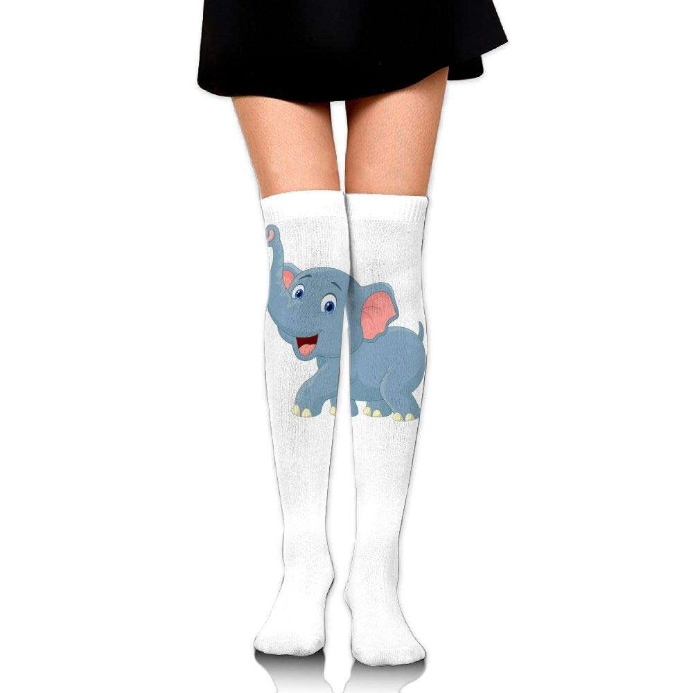 High Elasticity Girl Cotton Knee High Socks Uniform Elephant Women Tube Socks