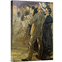 """Global Gallery GCS-266699-22-142 """"Peter Severin Kroyer The Artist Laurits Tuxen"""" Gallery Wrap Giclee on Canvas Wall Art Print"""