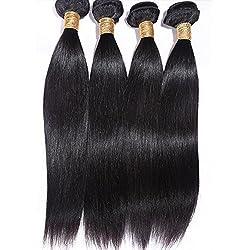Goood Hair 7a Peruvian Virgin Hair Straight 4pcs/lots Rosa Hair Products 100% Peruvian Human Hair Extensions Bundles Deals Natural Color 50g/ps 4pcs/ Lot Total 200g 4ps Bundles (14 Inch *4 PS)