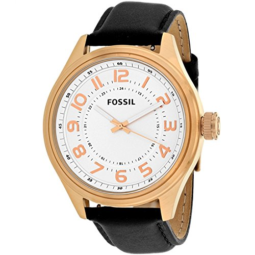 Fossil Classic White Dial Leather Strap Men's Watch ()