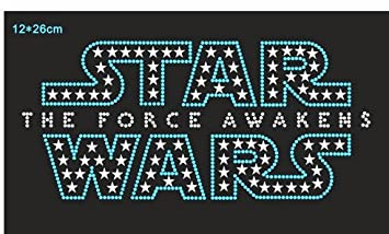 Image Unavailable. Image not available for. Colour  Generic 2pc lot  Starwars design hot fix rhinestone transfer motifs iron on crystal  transfers design 63a982c370a1