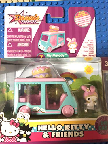 Dazzle Dash Hello Kitty & Friends My Melody Donut Truck 7/12 Die Cast Vehicle Figure Collectible (Hello Kitty Collectables)