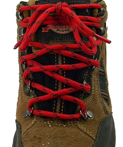 72 inch RED w/Black Kevlar(R) Reinforced proTOUGH(TM) Boot Shoelaces (2 Pair Pack)