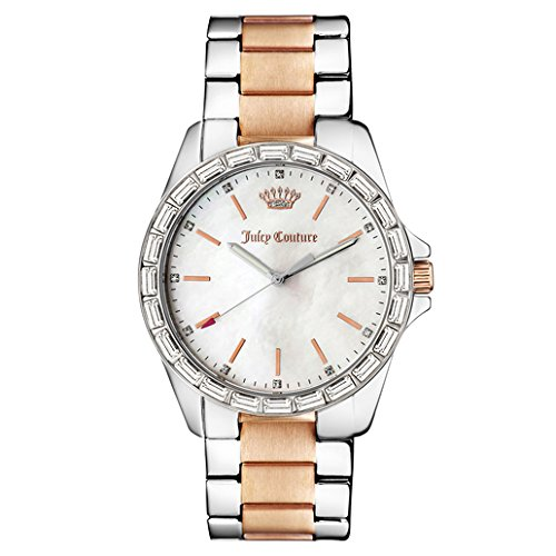 Juicy Couture Womens Glitter - Juicy Couture Women's 1901296 Analog Display Quartz Two Tone Watch