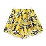 Automotive : FarJing Clearance Sale Womens Pineapple Printing Mid Waist Loose Shorts Elastic Waist Shorts Pants (XL,Yellow