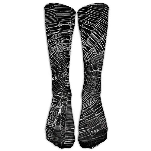 Spider Web Classics Stockings, Great Quality Knee High Tube Socks, Sports Long Socks For Women (Halloween Webs Clipart)